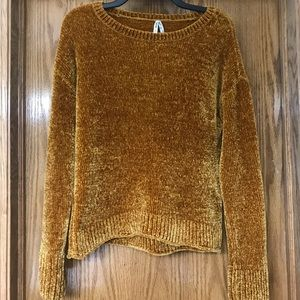 Gold / Mustard Yellow Velvet Sweater